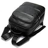 Рюкзак шкіряний Vintage 20036 Чорний, фото 7