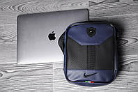 Мужская сумка/барсетка/мессенджер  найк/Nike, синяя реплика, фото 1