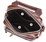 Сумка-барсетка на пояс чоловіча шкіряна Vintage 20012 Коричневий, Коричневий, фото 4