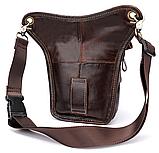 Сумка-барсетка на пояс чоловіча шкіряна Vintage 20013 коричнева, фото 3