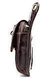 Сумка-барсетка на пояс чоловіча шкіряна Vintage 20013 коричнева, фото 5