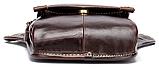 Сумка-барсетка на пояс чоловіча шкіряна Vintage 20013 коричнева, фото 6
