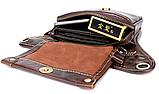 Сумка-барсетка на пояс чоловіча шкіряна Vintage 20013 коричнева, фото 8