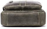 Сумка мужская вертикальная кожаная Vintage 20028 Серая, фото 3