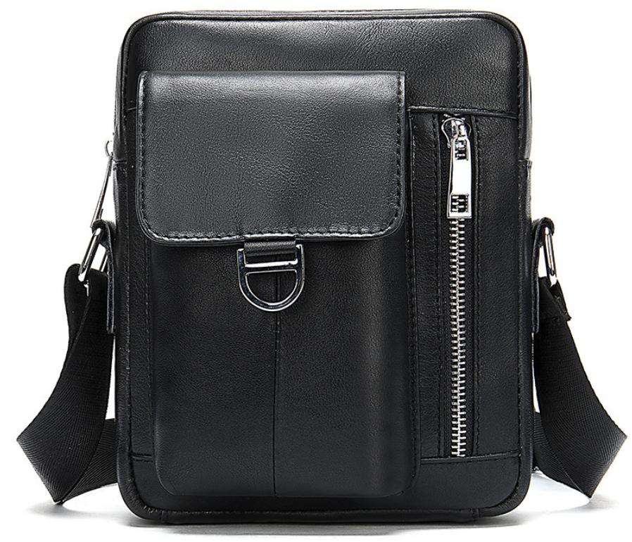 Компактная сумка из кожи Vintage 20030 Черная