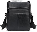 Компактная сумка из кожи Vintage 20030 Черная, фото 2