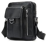 Компактная сумка из кожи Vintage 20030 Черная, фото 3
