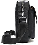 Компактная сумка из кожи Vintage 20030 Черная, фото 4