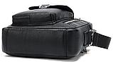 Компактная сумка из кожи Vintage 20030 Черная, фото 5