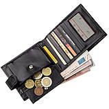 Чоловіче портмоне в гладкій шкірі KARYA 17372 Чорне, Чорний, фото 5