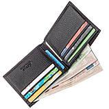Тонкий чоловічий гаманець шкіра флотар KARYA 17381 чорний, фото 4