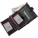 Місткий функціональний чоловічий гаманець KARYA 17368 чорний, фото 4