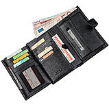 Місткий функціональний чоловічий гаманець KARYA 17368 чорний, фото 5