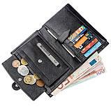 Місткий функціональний чоловічий гаманець KARYA 17368 чорний, фото 6
