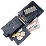 Чоловічий гаманець з хлястиком шкіряний флотар KARYA 17369 синій, фото 6
