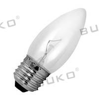 Лампа накаливания WATC WT146 60W Е27 220V свеча прозрачная, матовая, белая, фото 1