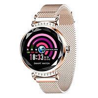 Женские умные смарт часы G-Watch Smart Watch H2 Gold (7467835)