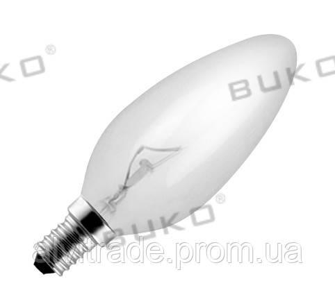 Лампа накаливания WATC WT144, 60W Е14 220V свеча прозрачная, матовая, белая