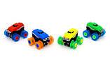 Машинки на бат. Trix Trux набір 2 машинки з трасою (синій+зелений), фото 2
