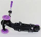 Самокат беговел scooter с родительской ручкой 5в1 фиолетовый Best Scooter 68995, фото 6