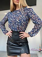 Чёрная мини-юбка из эко-кожи, фото 1