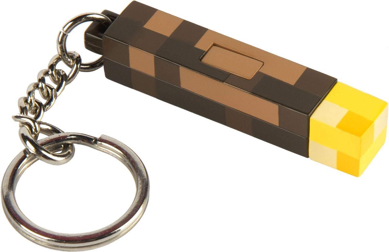 Брелок JINX Minecraft - 3D Light-Up Torch Keychain