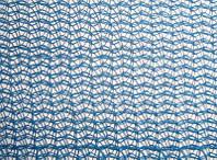 Защитная фасадная сетка для строительных лесов 100 г/кв.м., 1.9х50 м с люверсами голубая, синяя