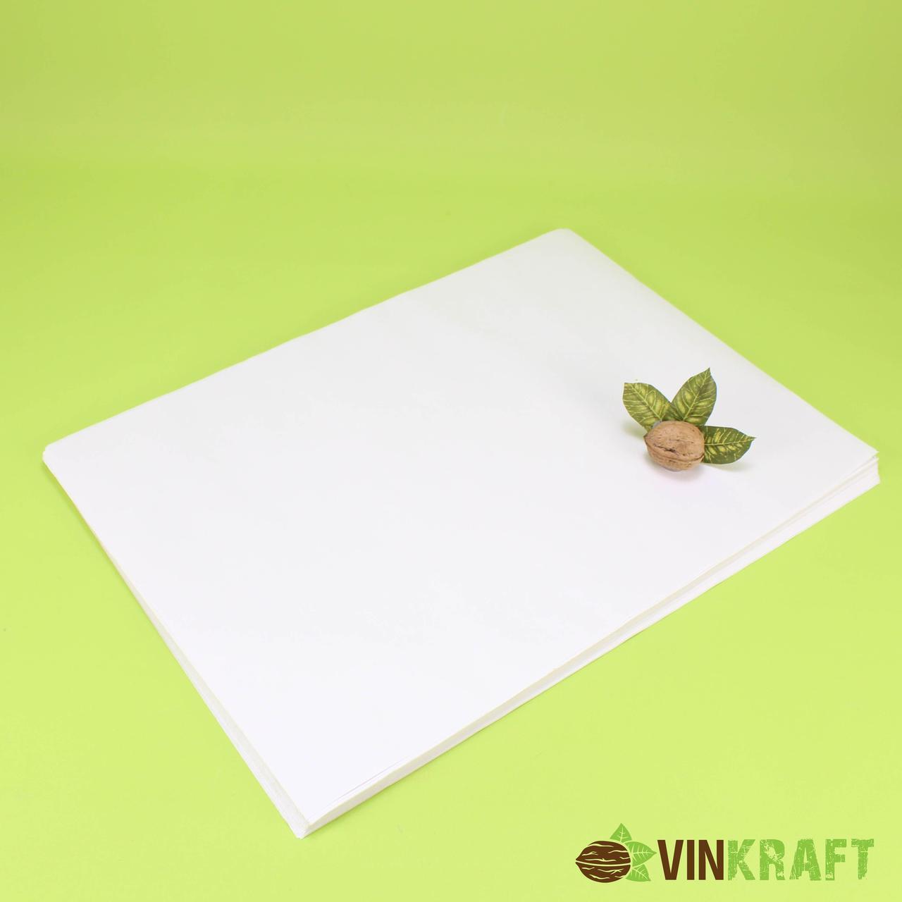 Паперовий лист 420*350 (40 г/м2), білій жиростійкий (100 шт)