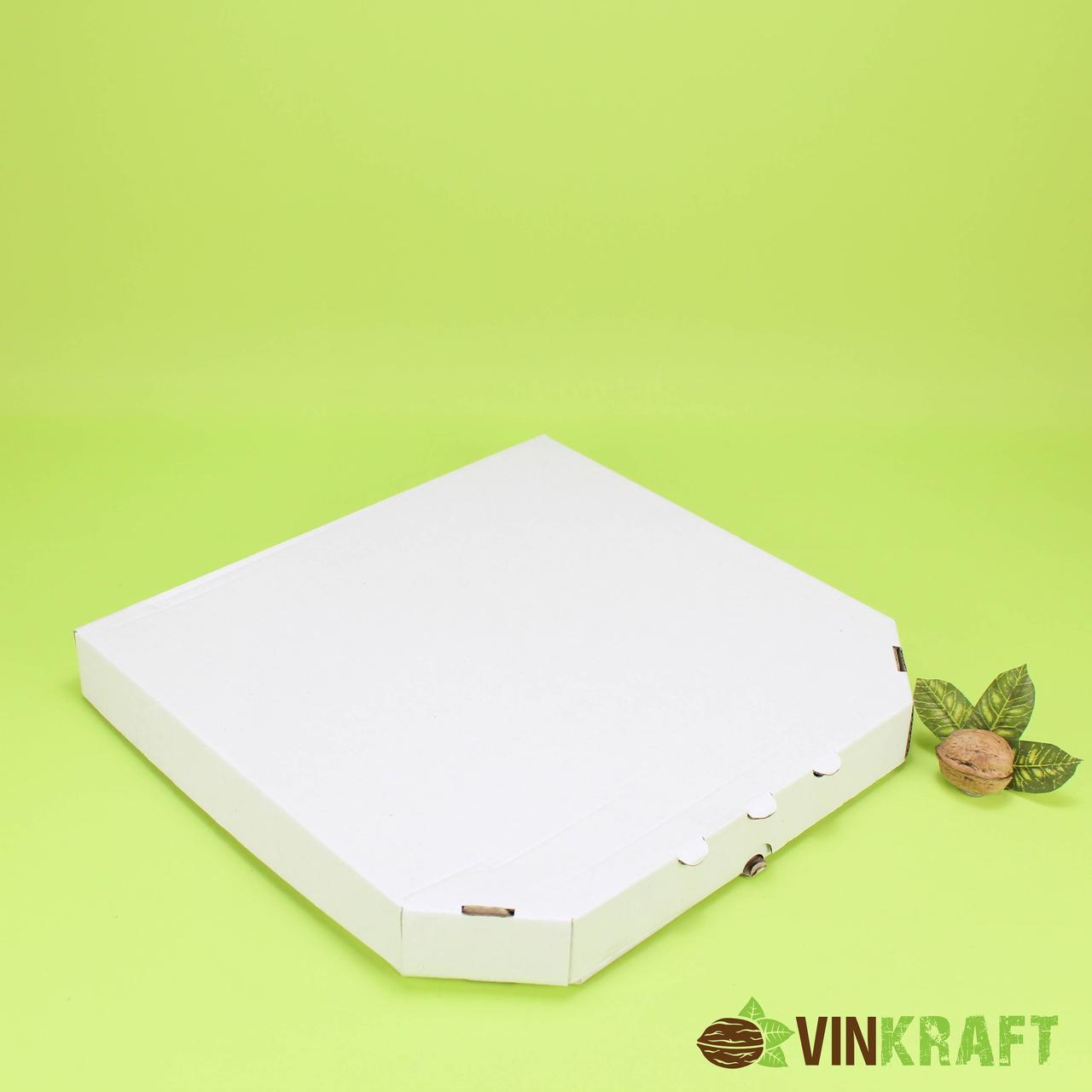 Коробка 320*320*33 для піци гофрокартон, біла