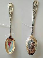 Серебряная ложечка 925 пробы с гравировкой