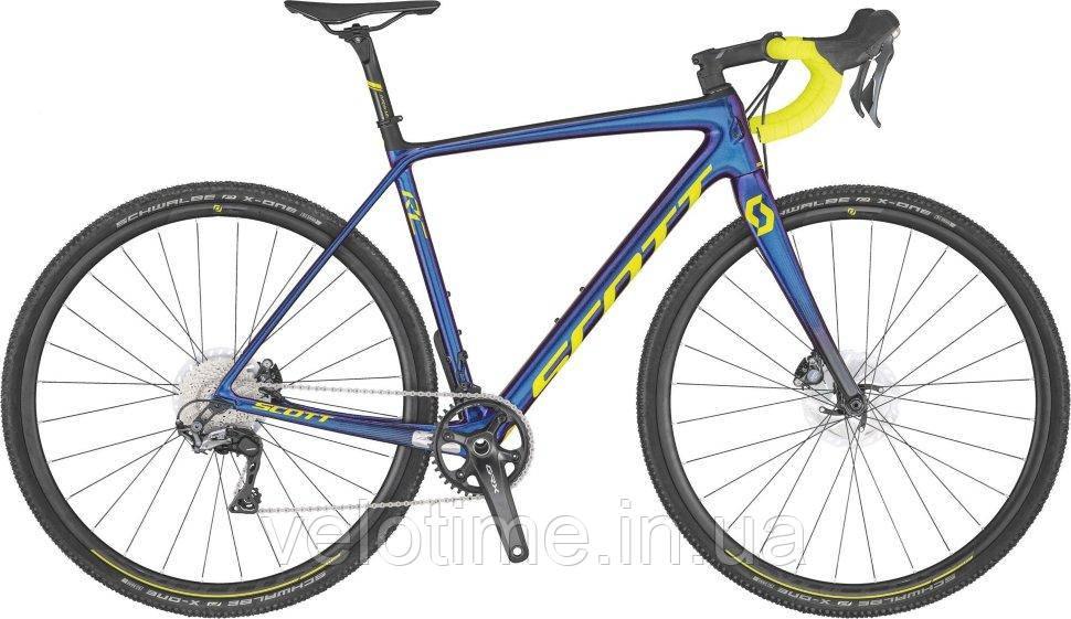 Scott Addict CX RC 28 2020 (M, синий-желтый)