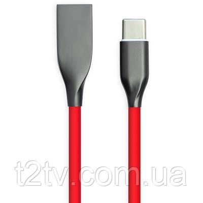 Дата кабель USB 2.0 AM to Type-C 2.0 m red PowerPlant (CA911394)
