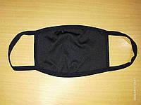 Многоразовая защитная черная маска тканевая