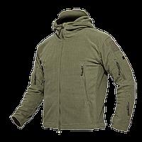 Тактична флісова куртка кофта Pave Hawk XXXXL Olive new69172, КОД: 1622340