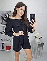 """Комбинезон-шорты женский на кнопках, размеры 42-46 (4цв) """"LEBED"""" купить недорого от прямого поставщика"""