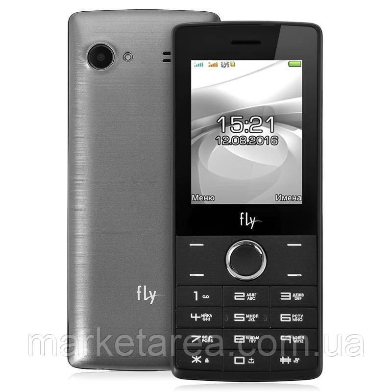 Кнопочный телефон с мощным аккумулятором на 2 сим карты Fly FF244 Grey