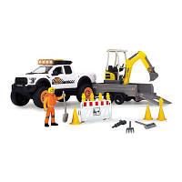 Набор Dickie toys Playlife Строительство дороги со светом и звуком