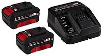 Аккумулятор + зарядка Einhell 18V 2x3,0Ah Starter-Kit Power-X-Change New, фото 1
