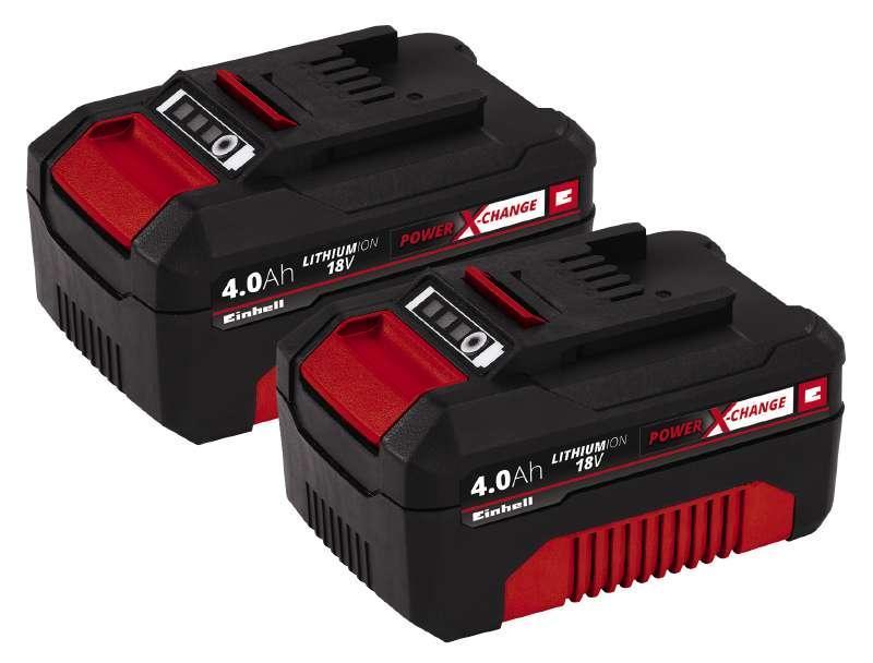 Аккумулятор Einhell Power-X-Change Twinpack 4.0 Ah 18V