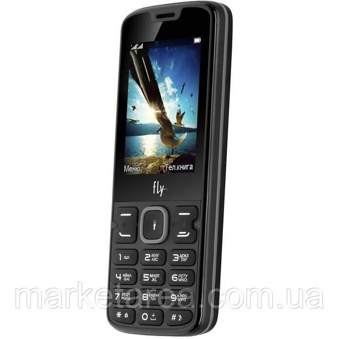Кнопочный телефон дешевый с фонариком Fly FF250 Black