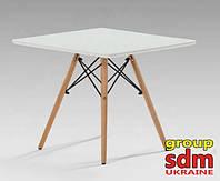 Журнальный/ детский стол Алор белый квадрат 60*60 на буковых ножках от SDM Group