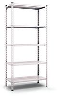 Стеллаж металлический оцинкованный 1800х1200х400мм 5полок (120кг на полку), фото 1