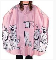 Накидка для стрижки детская Eurostil розовая 02508/70 размер 120х95см