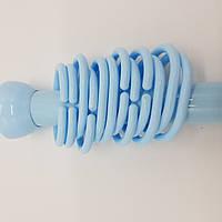 Карниз телескопический в  ванную комнату, голубой.