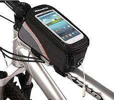 "Велосипедная сумка Roswheel 6"" велосумка для смартфона на раму L Black-Red"
