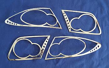 Хромированные накладки на задние фары mazda 6 2004 года