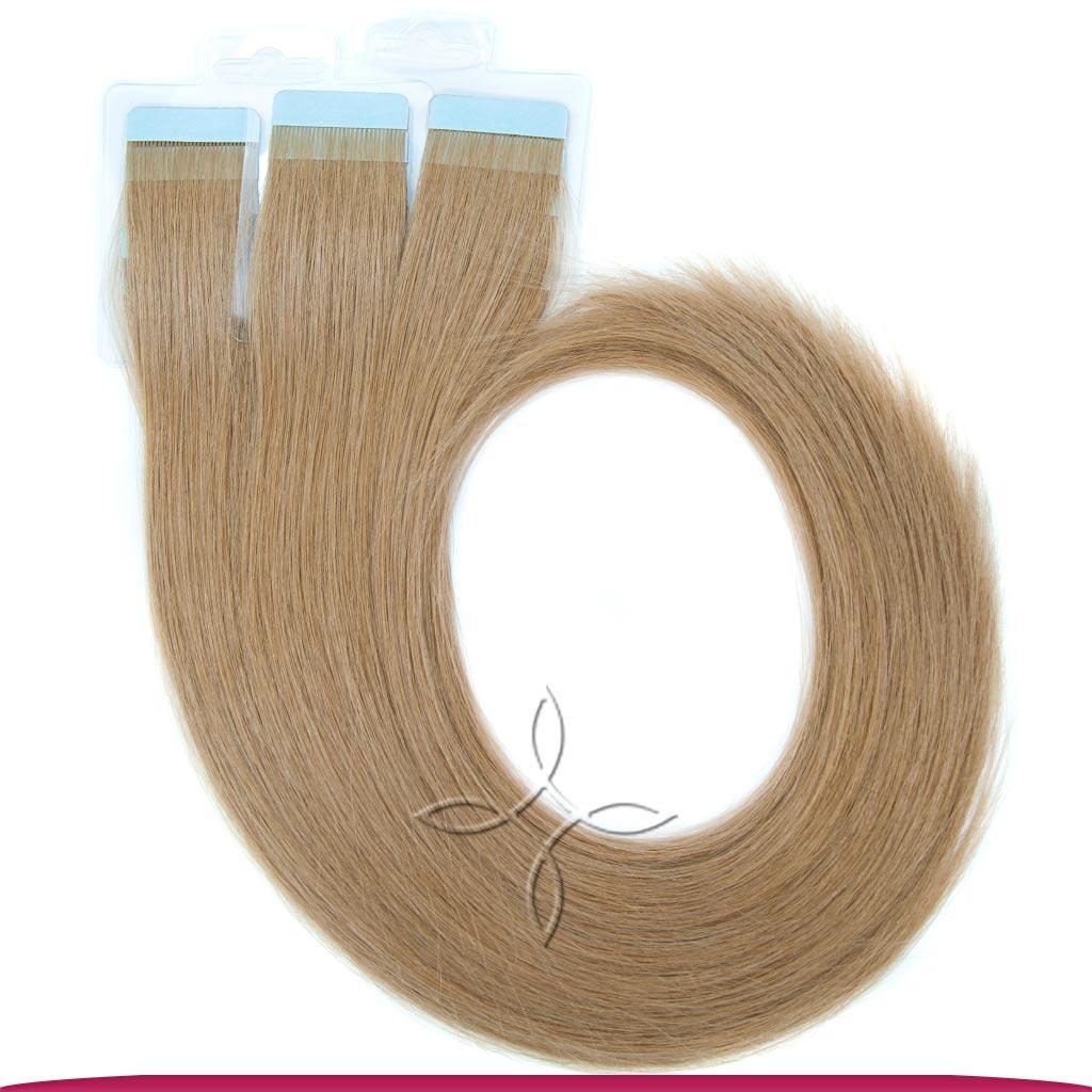 Натуральные Европейские Волосы на Лентах 60 см 100 грамм, Русый №08