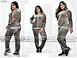 Женский велюровый костюм  Размеры  54.56, фото 2