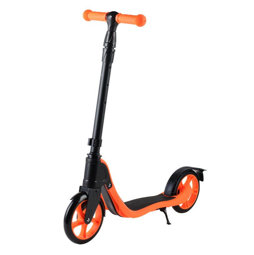 Детский самокат 112 материал пластик+металл колёса PU 180 мм цвет оранжевый