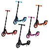 Детский самокат 112 материал пластик+металл колёса PU 180 мм цвет оранжевый, фото 2